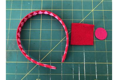 Valentine's Embellished Woven Ribbon Headband