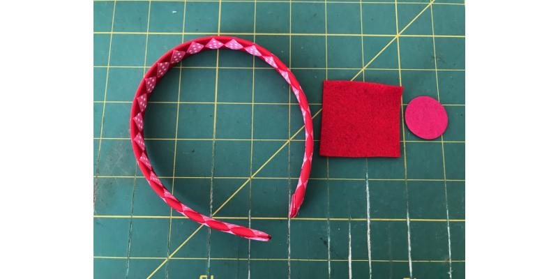 Valentine's Embellished Woven Ribbon Headband