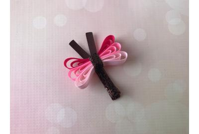 Glitter Dragonfly Clip