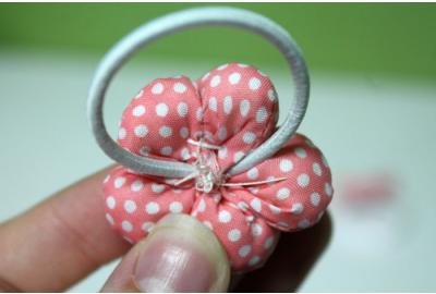 Cotton Flower Pigtail Hair Elastics