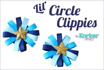 Circle Ribbon Hair Clips Tutorial