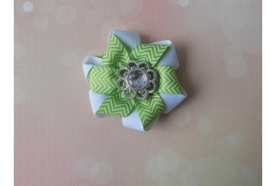 Folded Pinwheel Ribbon Flower Tutorial