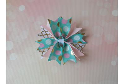 Ribbon Spikes Hair Bow Tutorial