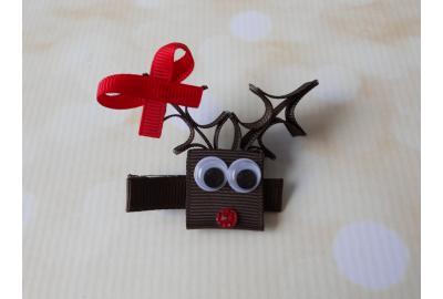 DIY reindeer hair clip