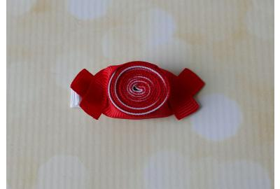Peppermint Candy Hair Clip