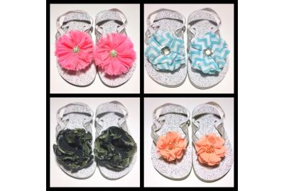 DIY Interchangeable Embellished Flip Flops!