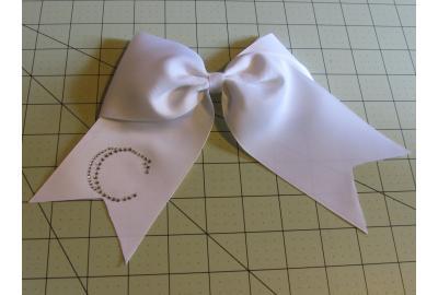 Rhinestone Monogram Simple Cheer Bow