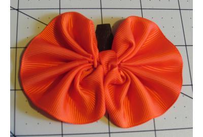 How to make a Ruffled Pumpkin hair Clip/ Headband
