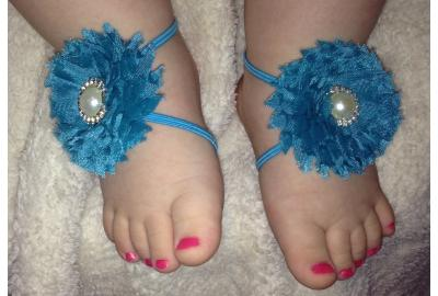 Barefoot baby sandals!