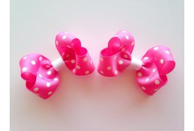 Perfect Polka-Dot Pigtail Hair-Bows!