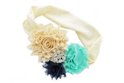 Glamorous Shabby Flower Headband