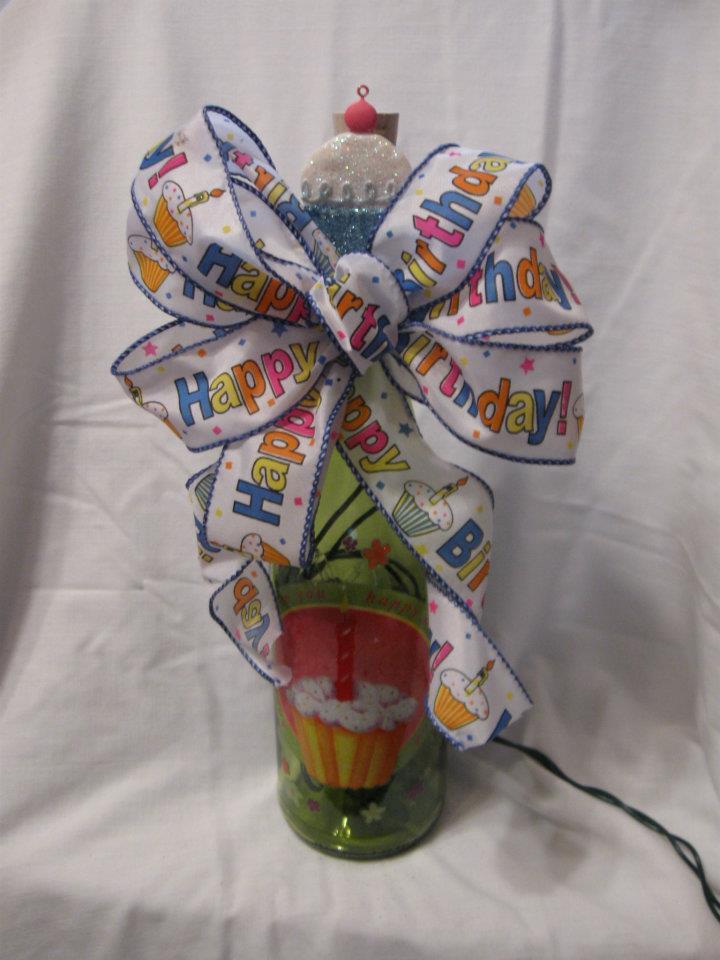 Birthday wine bottle