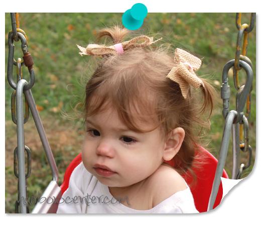 Burlap Hair-Bows Pigtails