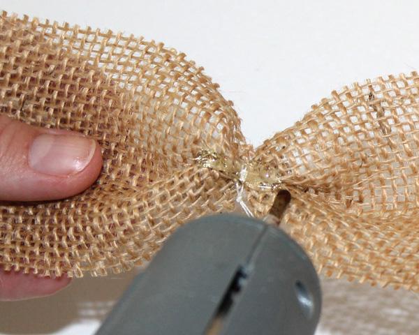 Burlap Hair-Bow Glue Layers