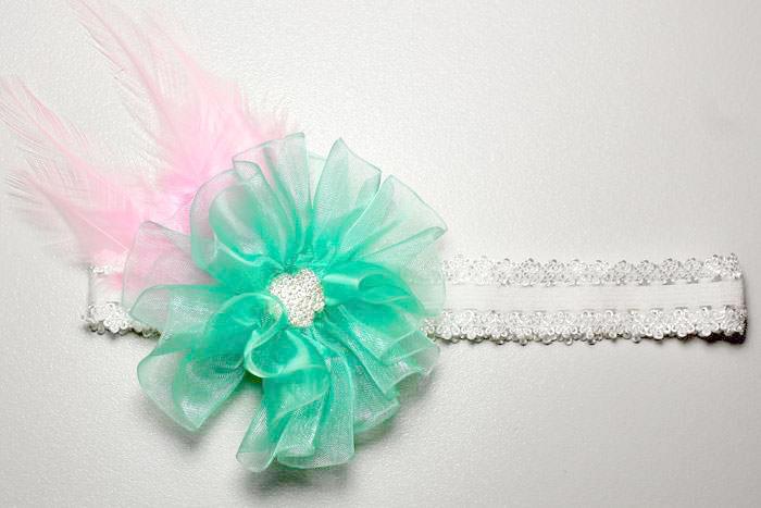 Organza Hair Flower Headband