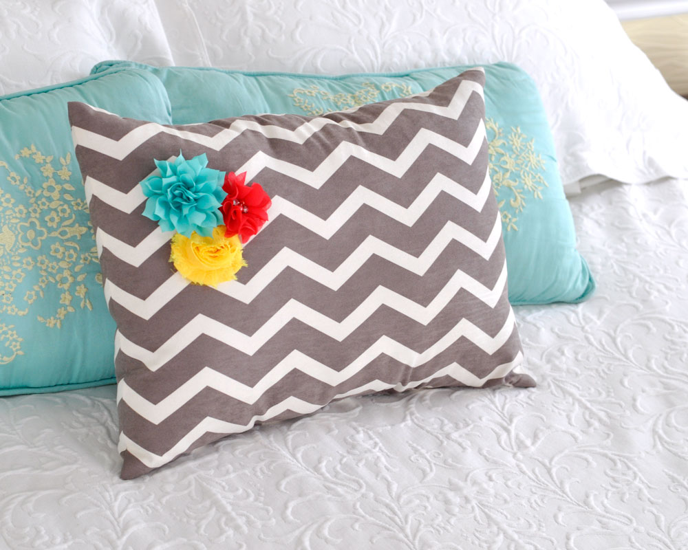 Flower Decorated Pillow