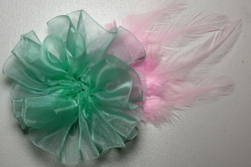 flower-glued-to-feathers