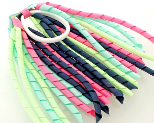 navy-pink-green-pony-o-streamers