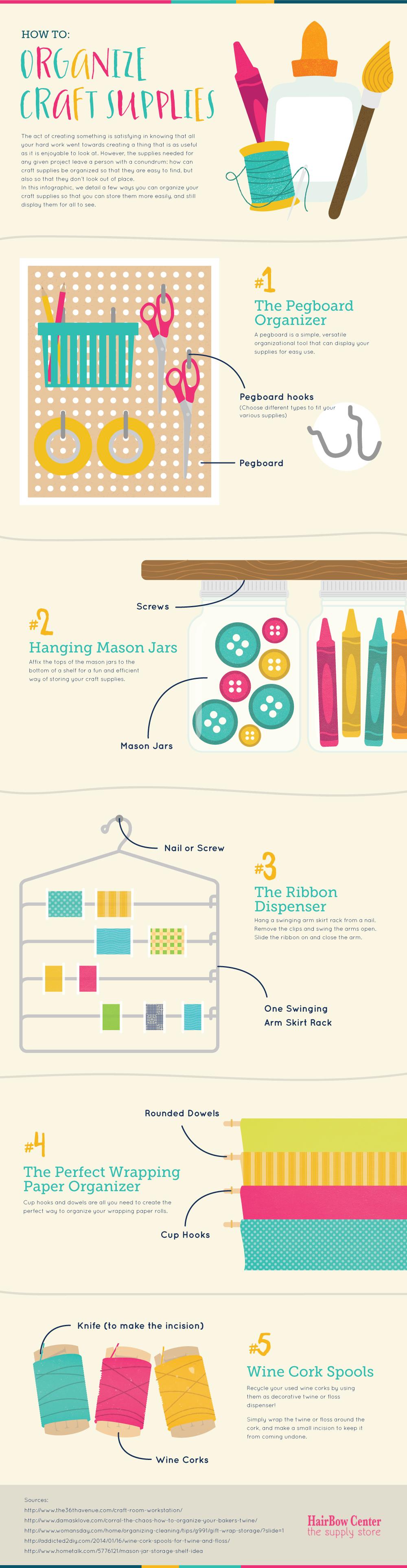 5 Craft Area Organization Ideas