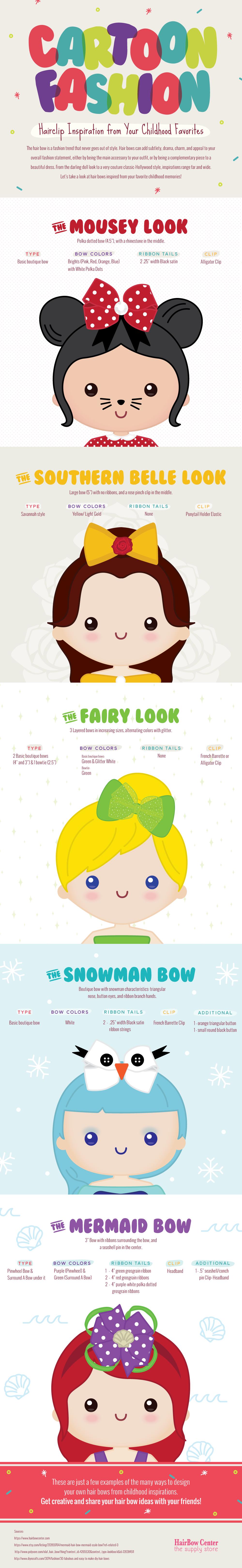 Cartoon-Fashion-hair-bows