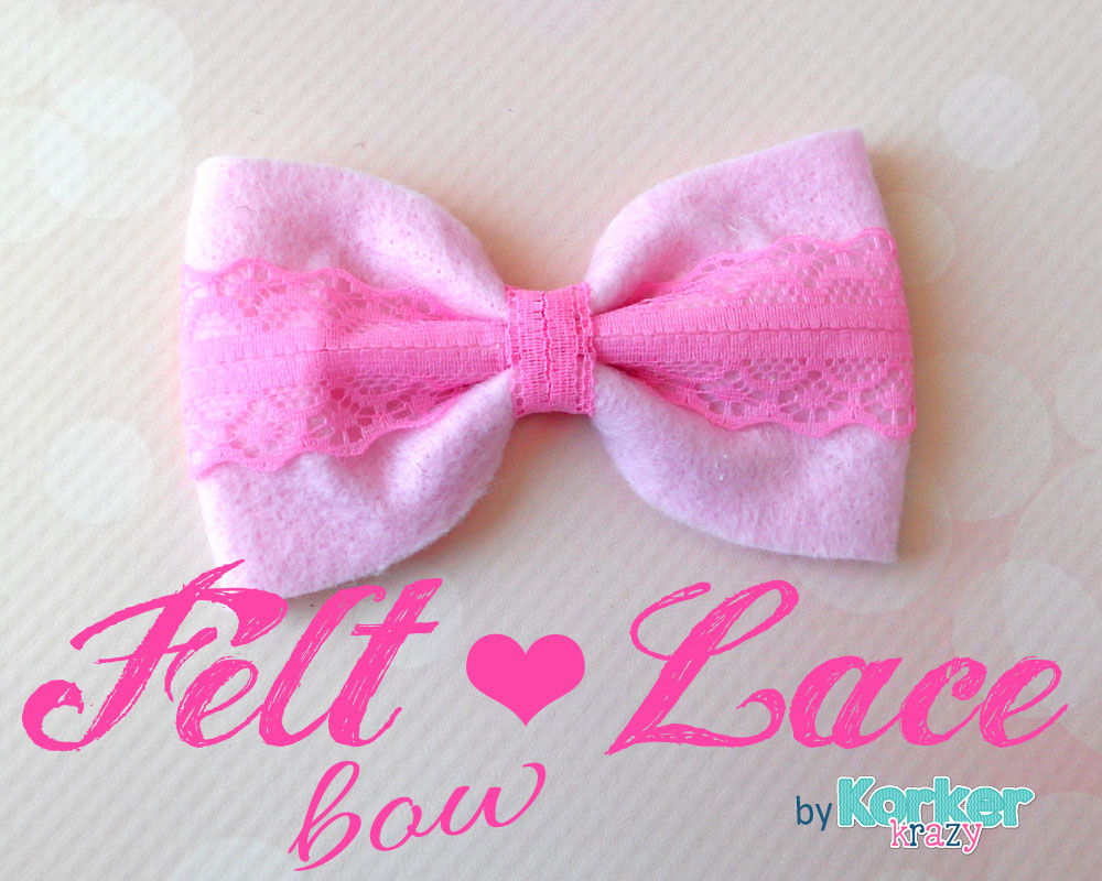 diy felt lace hair-bow tutorial