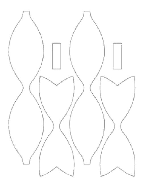foam hair-bow template