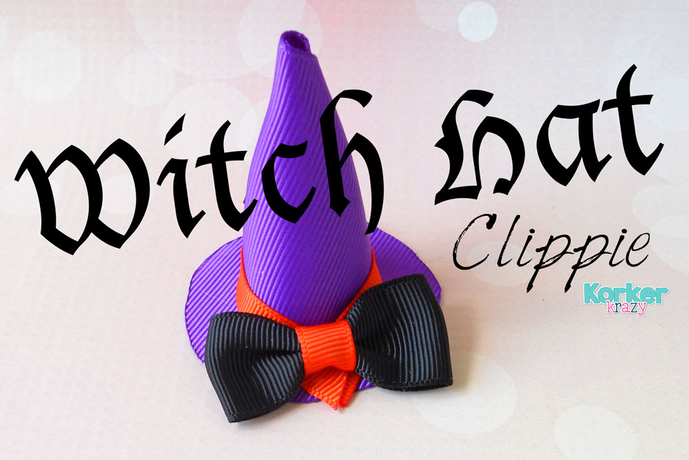 halloween witch hat hair clip