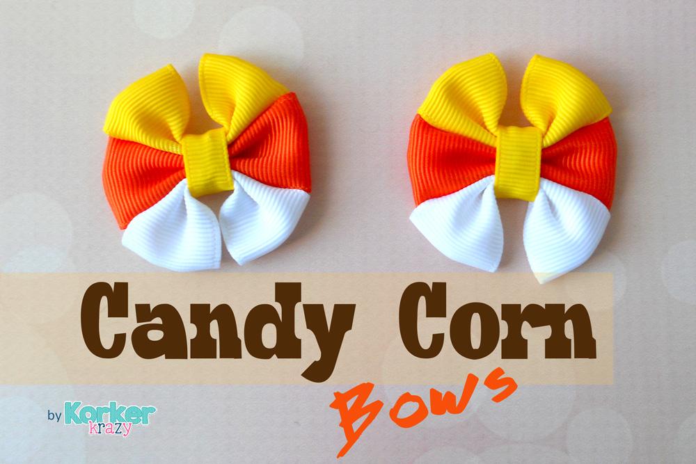 Fall Candy Corn Hair-Bows