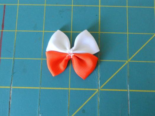 Candy Corn Hair-Bow DSCN5773