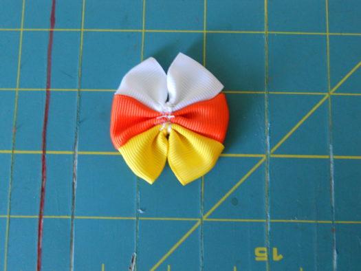 Candy Corn Hair-Bow DSCN5774