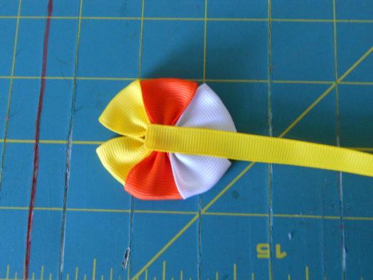 Candy Corn Hair-Bow DSCN5775