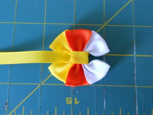 Candy Corn Hair-Bow DSCN5776