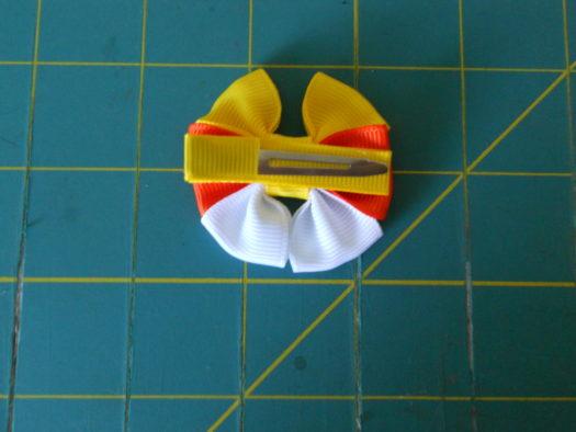 Candy Corn Hair-Bow DSCN5780