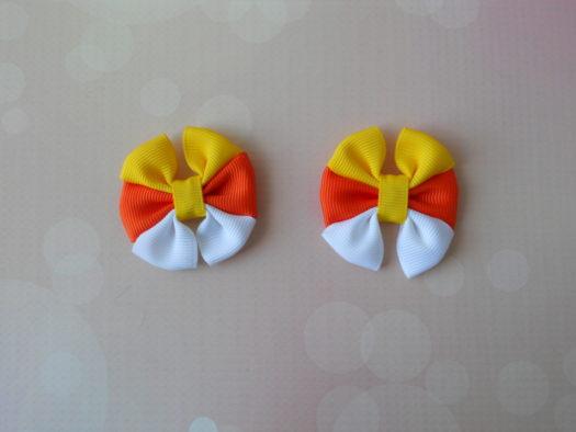Candy Corn Hair-Bow DSCN5782