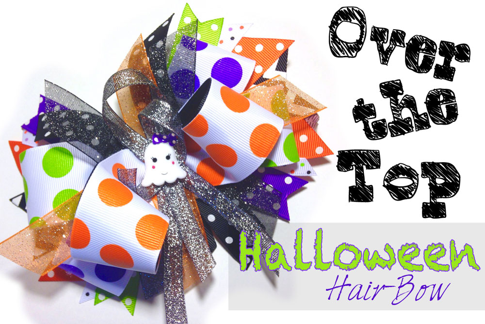 DIY Halloween stacked hair-bow