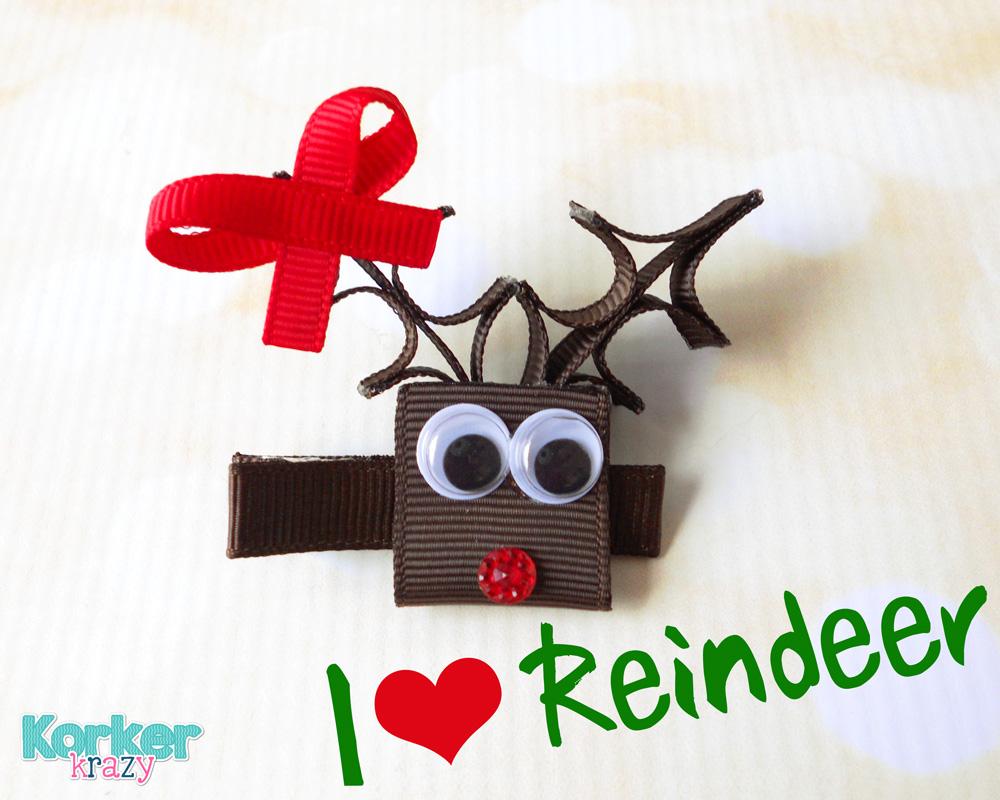 DIY christmas reindeer hair accessory