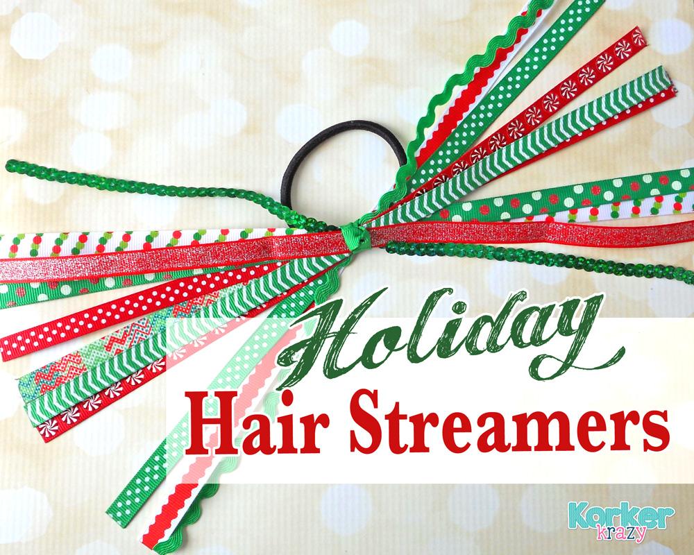 how to make hair streamers - christmas theme