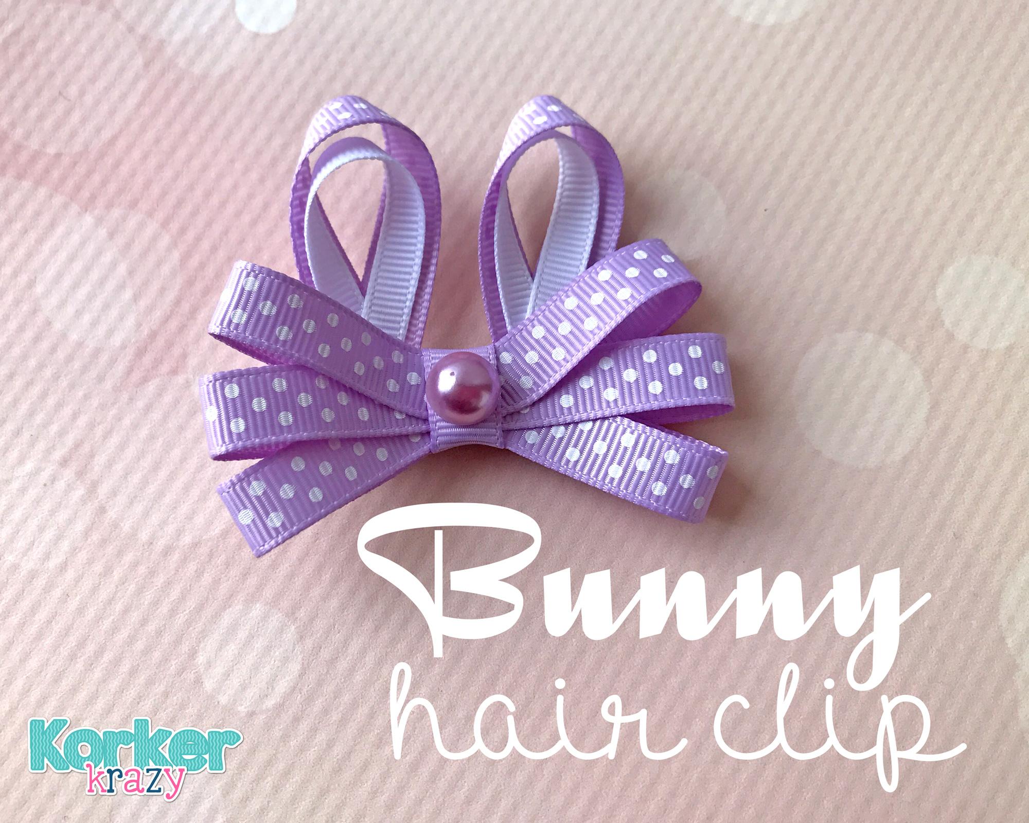 DIY Easter Bunny Hair Clip Tutuorial