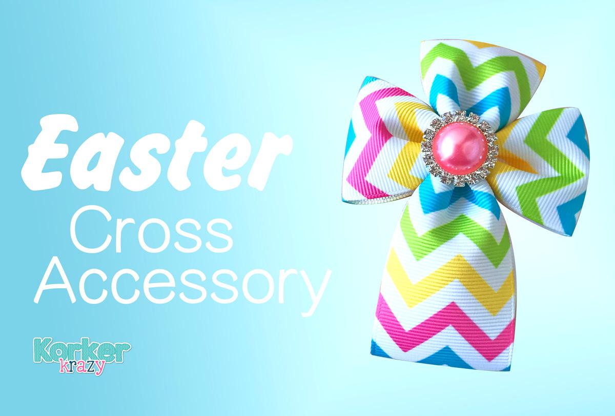 craft Easter ribbon cross embellishment