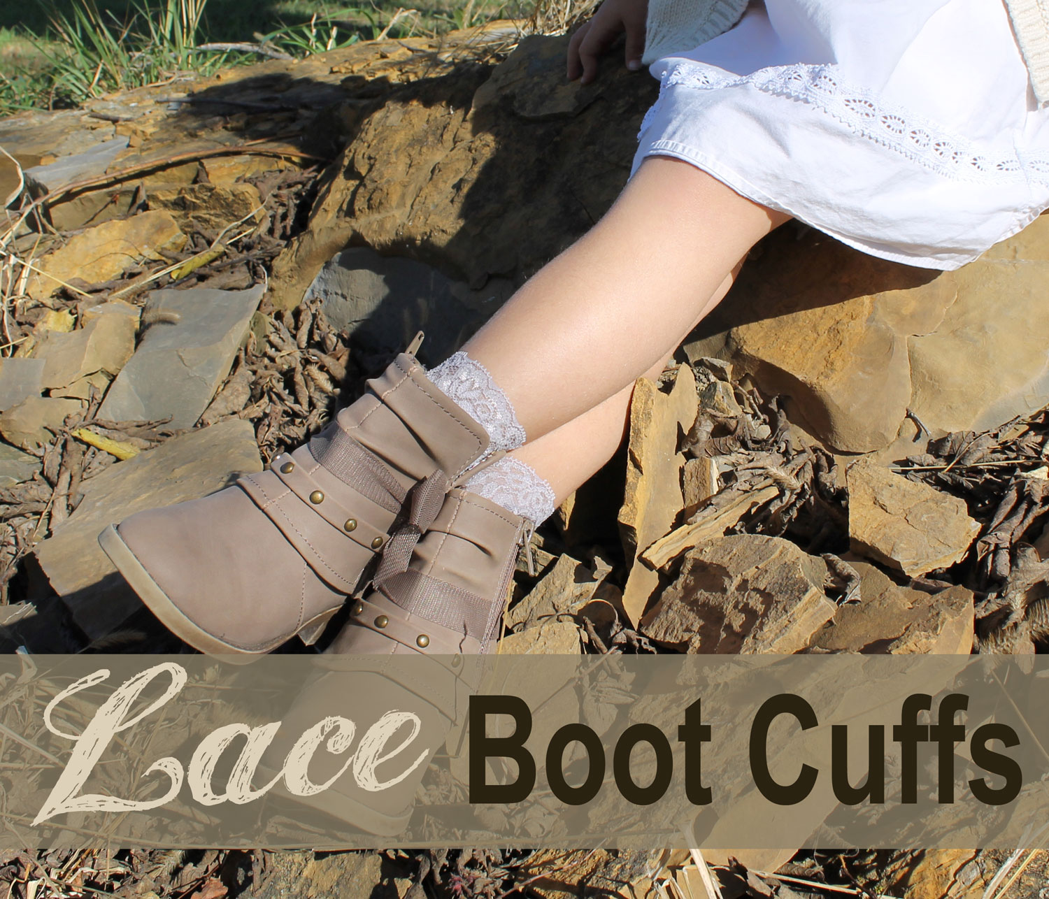 How to Make your own Lace Boot Cuffs