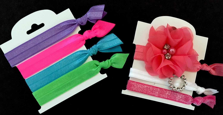 make your own elastic hair ties