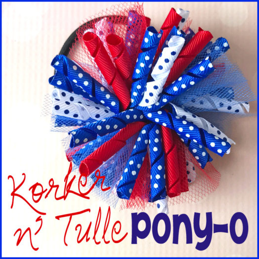 korke and tulle bow ponytail holder