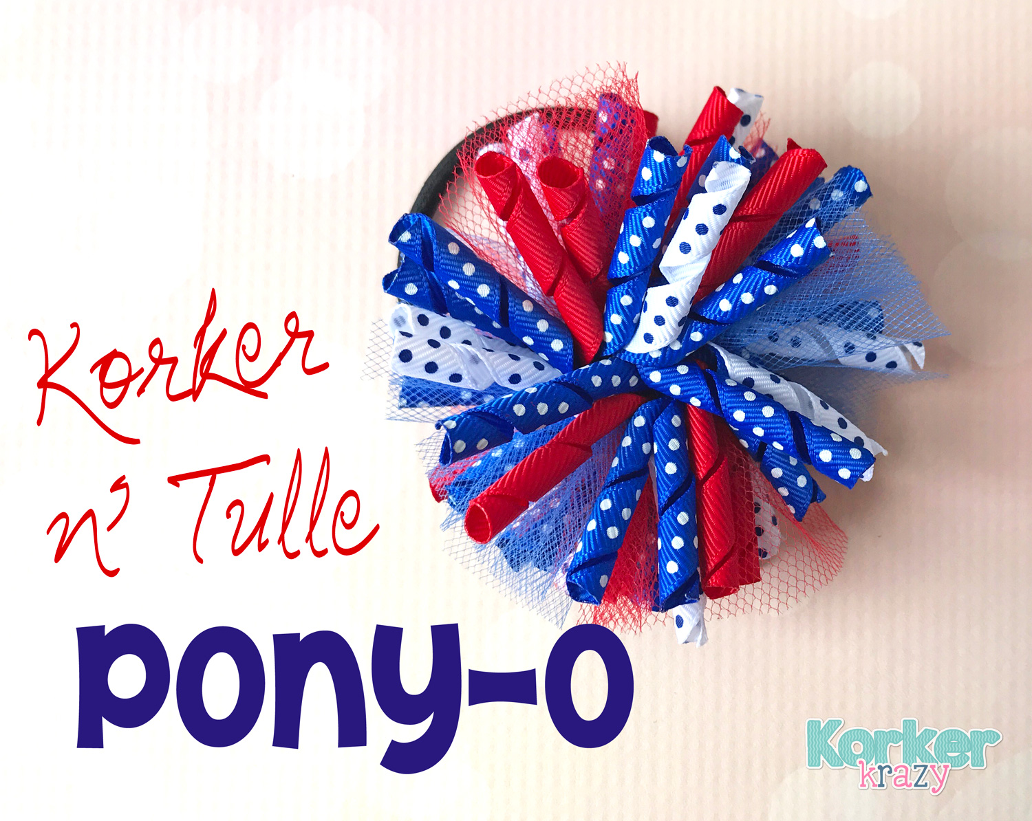 Korker and Tulle Ponytail Tutorial