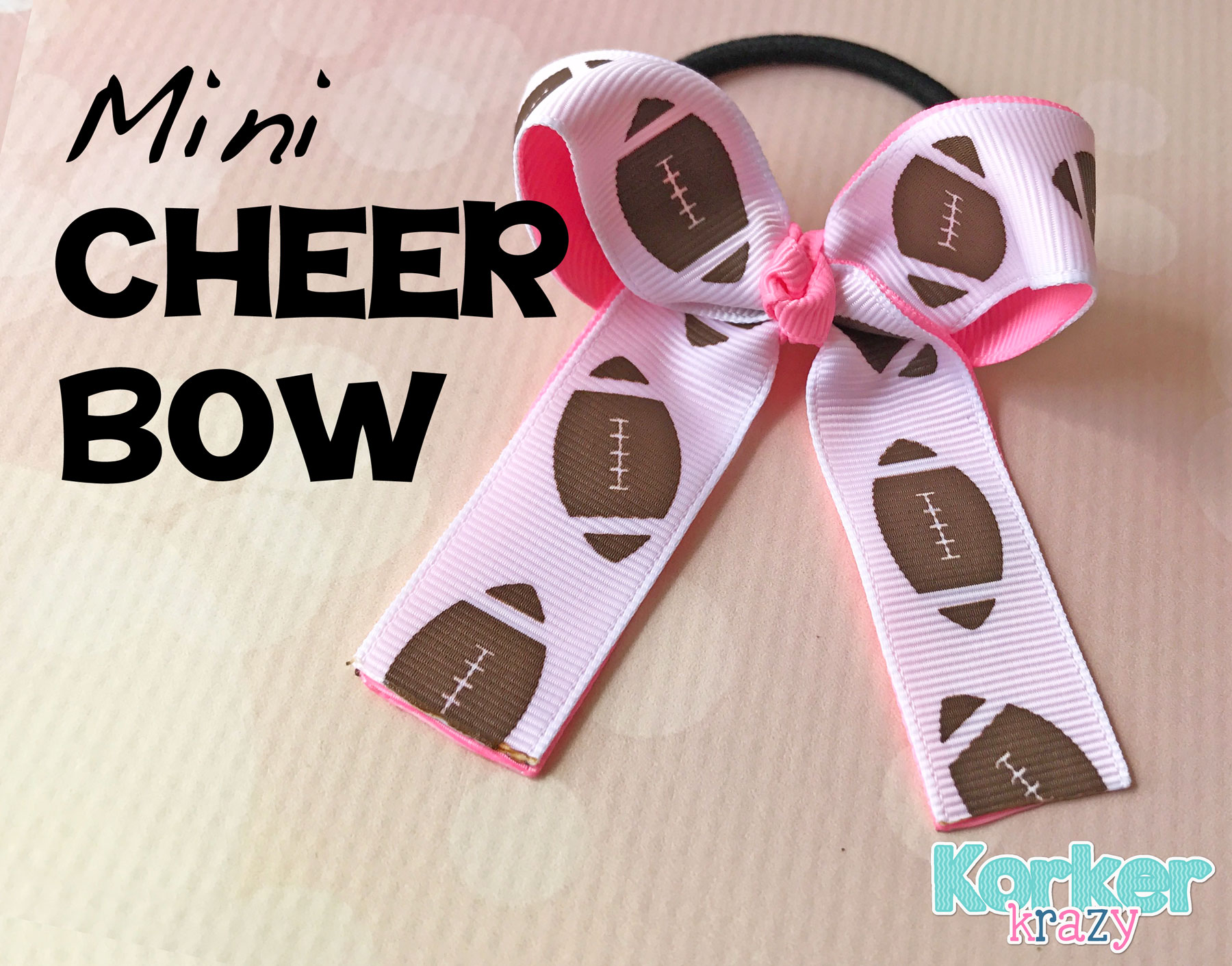 Make your own mini cheer hair-bow