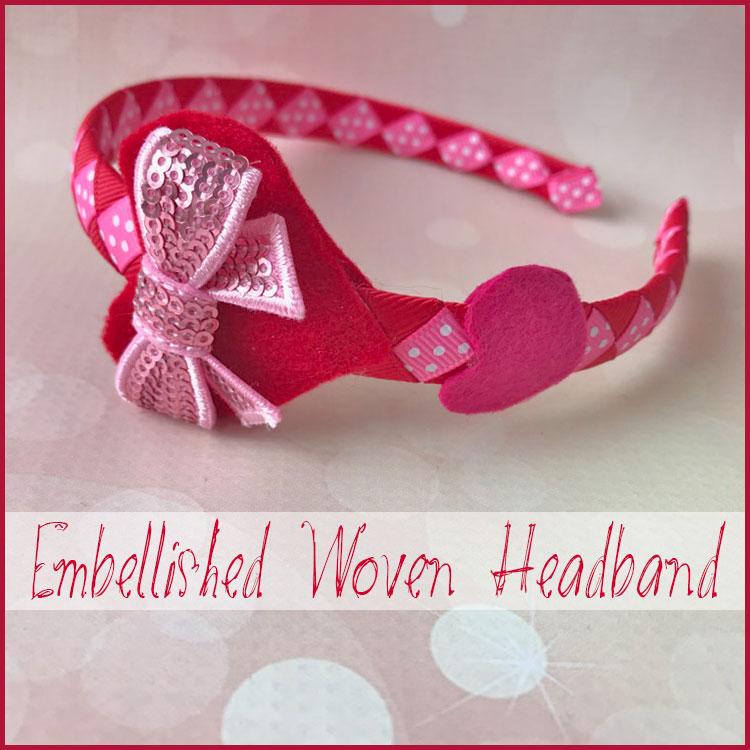 Woven Ribbon Headband Tutorial - Valentines