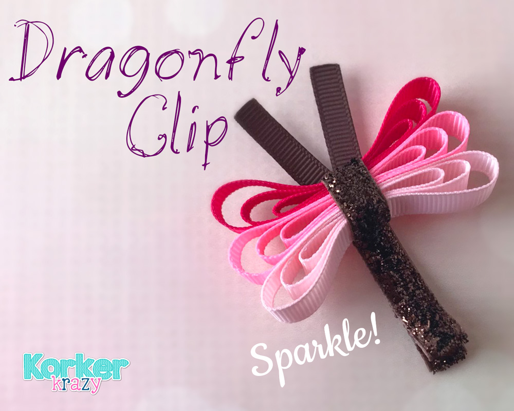 DIY Dragonfly Bug Hair Clip Tutorial