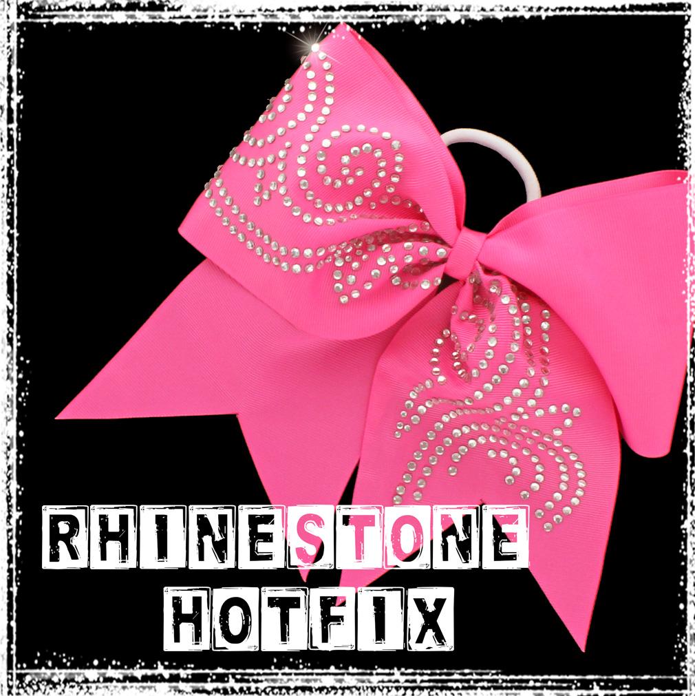 How to make a rhinestone hotfix heat transfer cheer hair-bow tutorial