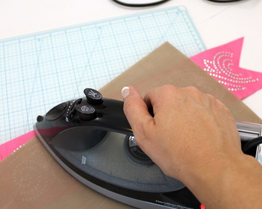 apply more heat with iron or heat press