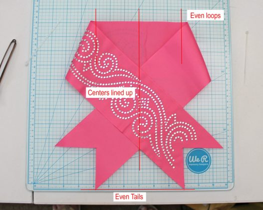 lay out bow