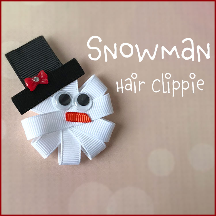 How to Make a Holiday Snowman Hair Bow